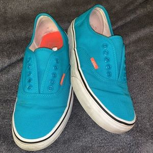 Teal and coral vans size 8